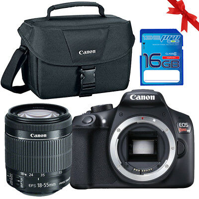 Canon EOS Rebel T6 DSLR Camera with 18-55mm II Lens + Case + 16GB Memory Card