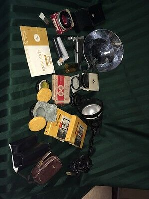 Lot Of Vintage Film Camera Equipment Accessories Will Separate