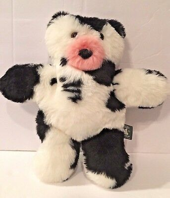 vermont teddy bear cow flat stuffed plush animal in excellent