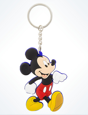 Disney Parks Mickey Mouse Rubber Keychain Keyring New**