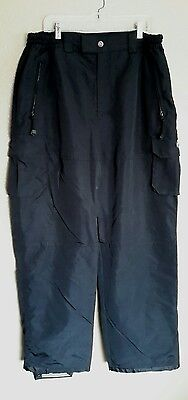 Ripzone Men's Size Xl Heavy Weight Warm Lined Black Ski Snowboard Pants
