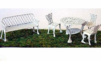 Garden Furniture KIT in brass OO / HO Model Trains or Diorama F133 - UNPAINTED