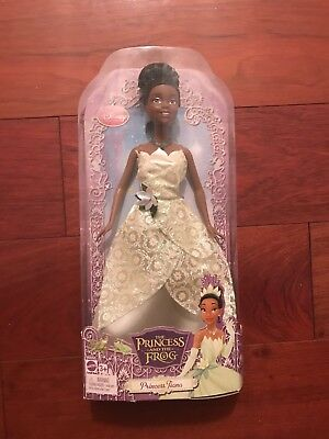 Disney Barbie Princess Tiana   Doll In Green Sparkle Dress