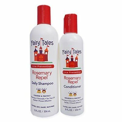 Fairy Tales Rosemary Repel Lice Prevention 12 oz. Shampoo and 8 Conditioner Hair