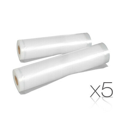 5 each of 20cm 28cm Vacuum Food Sealer Bags Roll Food Saver