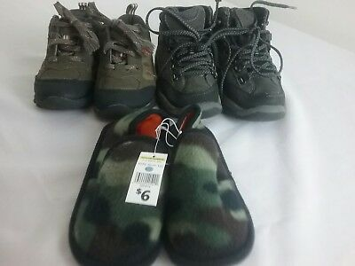 Lot of 3 Boys Shoes Slippers  Size 11 M
