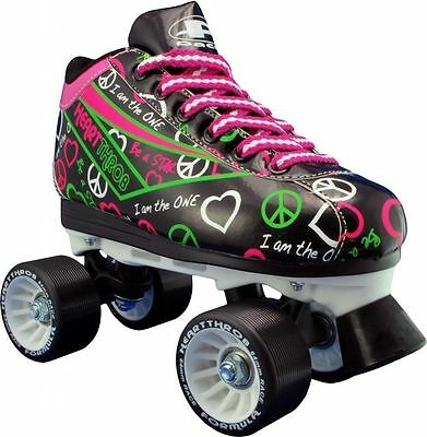 RDS Pacer Heart Throb Womens/Girls Quad Quad Roller Derby Skate Black