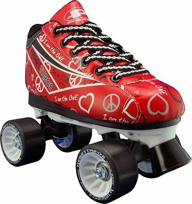 RDS Pacer Heart Throb Womens/Girls Quad Quad Roller Derby Skate Red