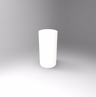 White Circular Plinth 700mm H - Acrylic, Perspex, Displays, Exhibitions, Events