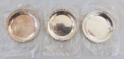 Silver Coasters Saucers Scalloped made in Sweden Plated