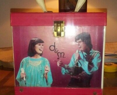 Donny & Marie Osmond 45's 7 inch Singles Record Holder Carrying Case.
