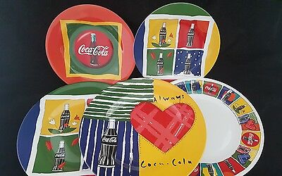 Vintage Gibson Coca Cola Melmac Assorted Collectible Plates Lot of 5 Plates