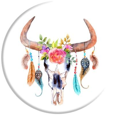 Popsocket Cell Phone Expanding Stand Grip for Smartphones Tablets Bull Feathers