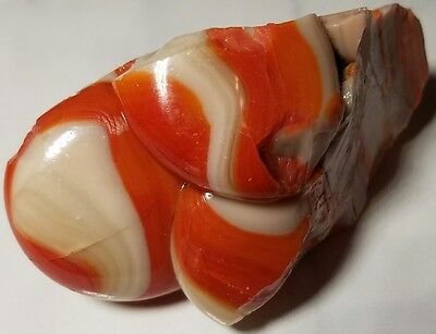 ☆W@W☆ CREAMY ORANGE CLUSTER Old Vintage Akro Agate Marble Cullet Art RARE 4.7 OZ