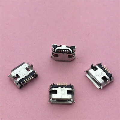 10pcs Micro USB 5pin Jack Female Socket G27 Connector OX Horn Curly Mouth