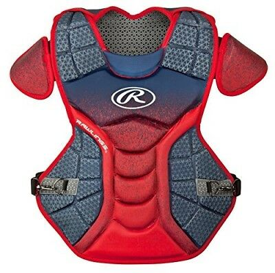 (Navy/Scarlet) - Rawlings Sporting Goods Catchers Chest Protector Velo Series