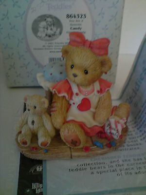 Cherished Teddies You are a Sweetie Girl With Candy Figurine 864323