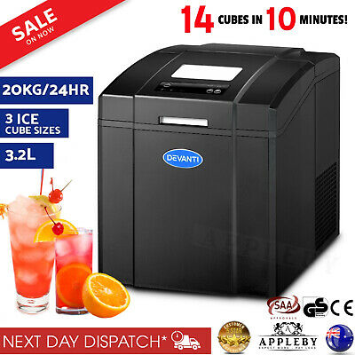 Commercial Home Ice Cube Maker Ice Making Machine Portable Bar Cafe Party 20Kg