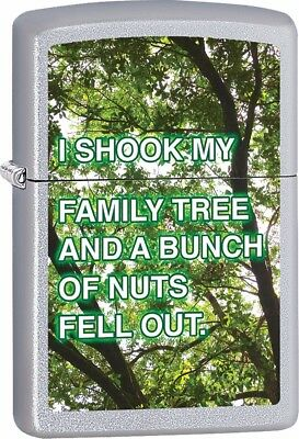 Shook My Family Tree Personalized Customize Message Zippo Lighter
