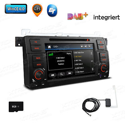 "7"" 1 DIN DAB+ CD DVD Player Autoradio GPS Navigation für BMW E46 3er für MG ZT"