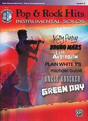 Pop & Rock Hits Instrumental Solos For Strings: Cello, Book & Cd **brand New**