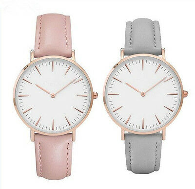 Women 's Fashion Leather Band Analog Quartz Round Wrist Watch Watches