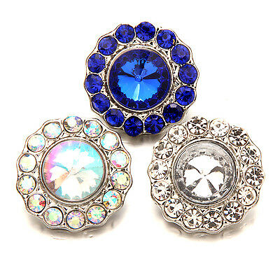 Jewelry & Watches Antique  Epoxy Rhinestone Snaps Buttons Charms Fit 18mm Snap Jewelry u Fashion Charms & Charm Bracelets
