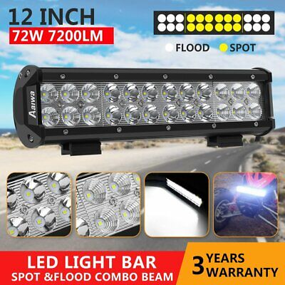 12inch 240W CREE LED Light Bar Spot Flood Offroad Work Driving Lamp 4WD Reverse