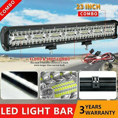 23inch 210W Philips LED Light Bar Flood Spot Work Driving Offroad SUV 4WD +Wire