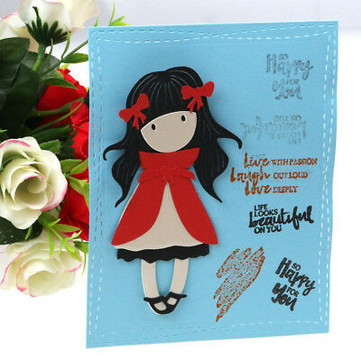 Lovely Girl Metal Cutting Dies Stencils For Scrapbooking Paper Cards Crafts DIY