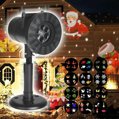 Outdoor LED Lights Moving Laser Projector Landscape Xmas Santa Christmas Lamp AU