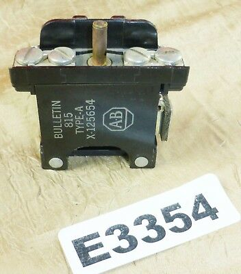 Allen Bradley X-125654 LH Overload Relay Size 00-1 Magnetic Starters Type A 815