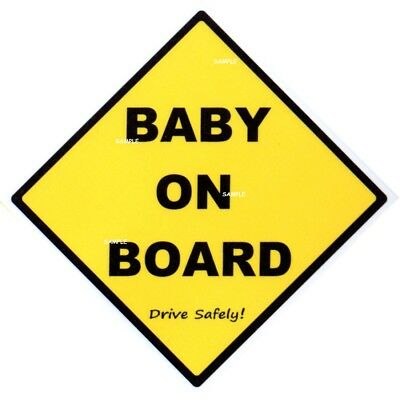 BABY ON BOARD - Traditional Sign - MADE IN AUSTRALIA - Peel Off Strips FREE POST