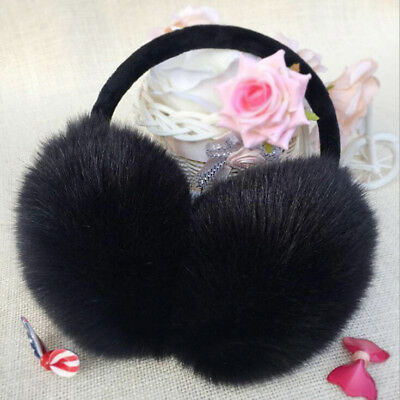 Ladies Girls  Earmuffs Adjustable Furry Ear Muffs Comfy Soft Snow Outdoor Winte