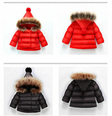 Children Toddler Baby Puffer Padded Jacket Windproof Outerwear Hooded Overcoat