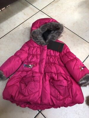 BNWT CATIMINI girls Pink Puffer Coat Fully Lined Age 6 Months