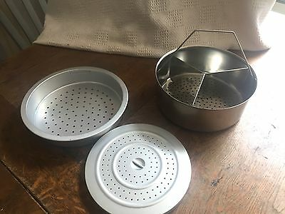 2 x Metal Steamer baskets - 1 for a Duromatic Pressure Cooker with sparator