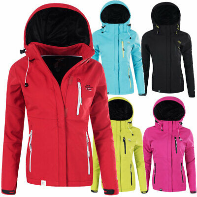 N612 Geographical Norway Damen Softshell Outdoor Funktions Jacke mit Kapuze