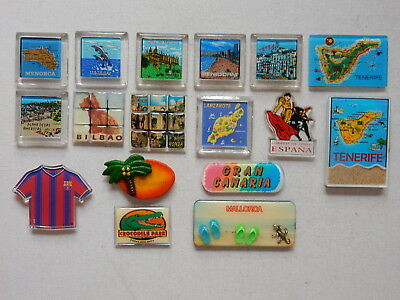 One Selected Plastic Souvenir Fridge Magnet from Spain