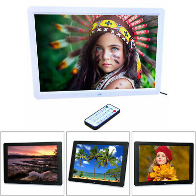"""15"""" HD 1080P LED Digital Photo Picture Frame Movie MP4 Player Remote Control New"""