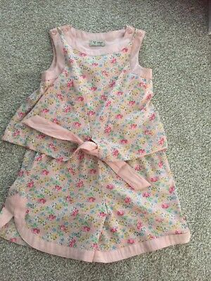 Next girls Beautiful Summer Pink Floral Playsuit  age 4