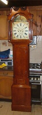 A fine Georgian golden Oak Antique Longcase Grandfather Clock C1810