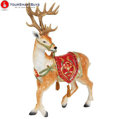 Fitz and Floyd Bellacara Deer Figurine Christmas Decor Outdoor Indoor Decoration