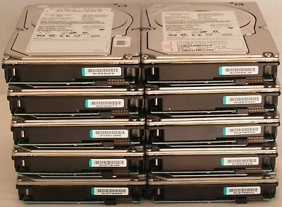"LOT OF 10 IBM/Seagate Cheetah 10K. 73.4GB 10K 3.5"" HHD ST373307FC  24P3720"