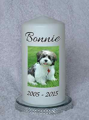 Pet Memorial Candle. Personalised Candle. Faithful Friend. Forever Remembered.
