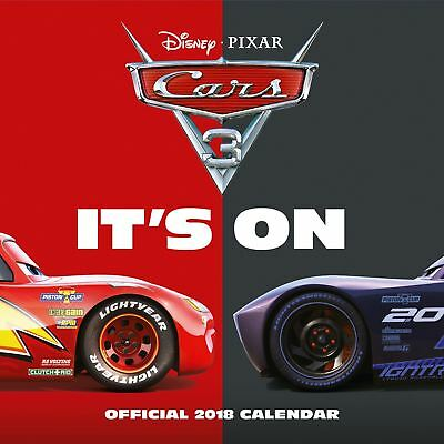 Cars 3 Official 2018 Square Wall Calendar