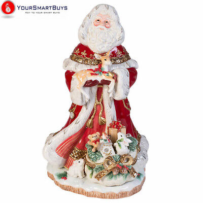 "Fitz & Floyd Yuletide 19"" Santa Figurine Christmas Claus Vintage Holiday Decor"