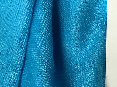 fff0e1e25ca FRENCH TERRY MODAL Supima cotton spandex Knit Fabric TURQUOISE BLUE ...