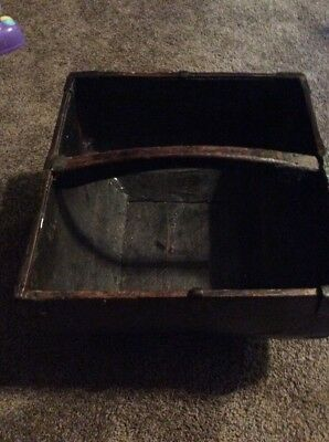 Primitive Antique Vintage Asian Wooden Rice Measuring Bin Decorative Box Basket