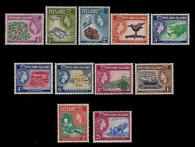 Pitcairn Islands 1957 QEII definitives  Sc# 20-30 MNH cplt F-VF set